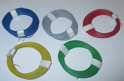 [1m = Litz wire super slim 0,04 mm² 5 Rings a 10 Meter NEW Choice of Color