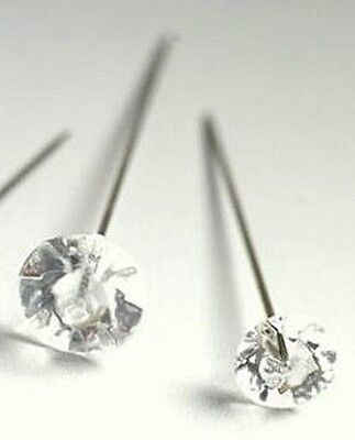 "20 x Clear Diamante Style Hat / Florists / Corsage / Pins - 2.5"" (63mm)  long"