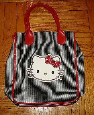 805a88a9f5 HELLO KITTY BAG Sanrio OFFICIAL Sparkle Black White Red PURSE 2008 Womens  Girls