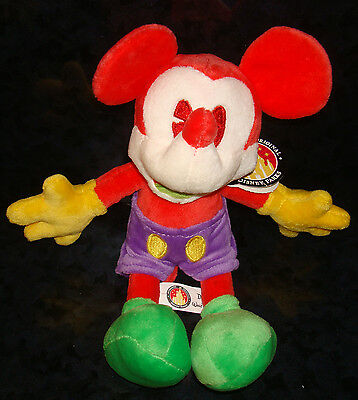 Disney Parks MICKEY MOUSE Official PLUSH DOLL Red Yellow Green Purple Figure Toy