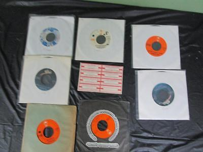Vintage Country 45 RPM Lot of 7 CHARLIE RICH JukeBox Records w/Title Strips