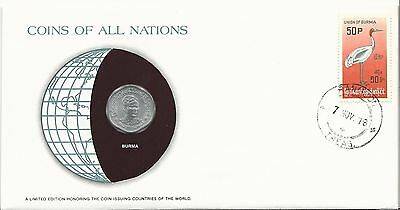 Numisbrief  Burma  1978   Coins off all Nations      (NB-Box 1)