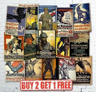 Large A2/A1 Quality Vintage German WW1 World War 1 Propaganda Military Posters