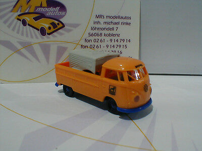 "Brekina 32968 # VW T1B Pritsche Baujahr 1967 "" Büssing "" in orange 1:87 NEU"