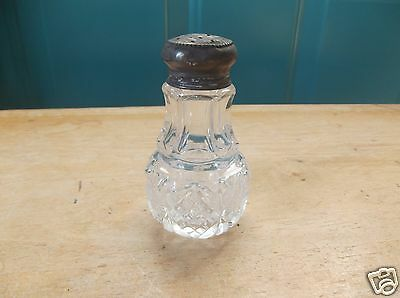 Vintage Clear Glass Salt or Pepper Shaker with Lid
