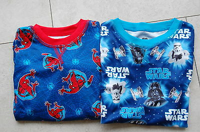 Boys Star Wars & Spiderman Thermal Base Layer, Tops or Bottoms Brand New  (N1)