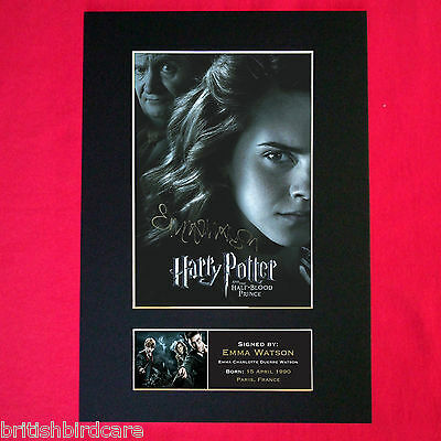 EMMA WATSON harry potter Mounted Signed Photo Reproduction Autograph PrintA4 134