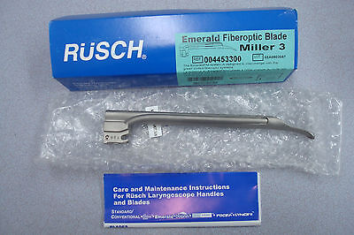 Rusch Emerald Fiber Optic Blade~ Miller 3 Ref:004453300