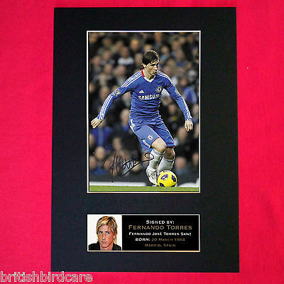 FERNANDO TORRES Chelsea Signed Reproduction Autograph Mounted Photo Print A4 37