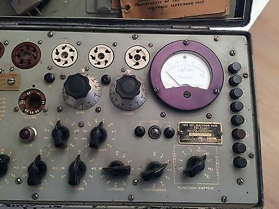 Vintage US Army TV-7/U Military Hickok Mutual Conductance Tube Tester Working