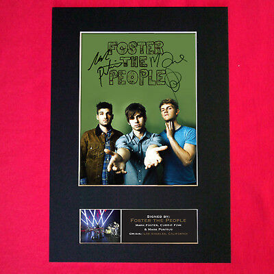 FOSTER THE PEOPLE Mounted Signed Photo Reproduction Autograph Print A4 363