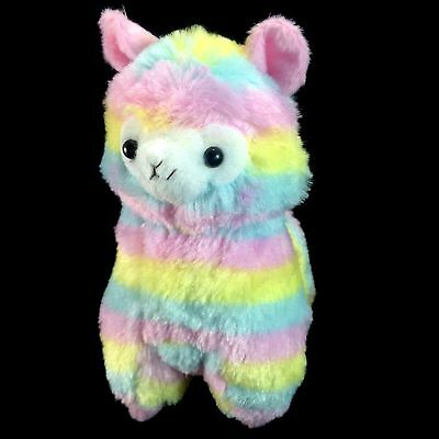 "Rainbow Alpaca Plush 7.25"" Llama Stuffed Animal Cute Doll Toy"