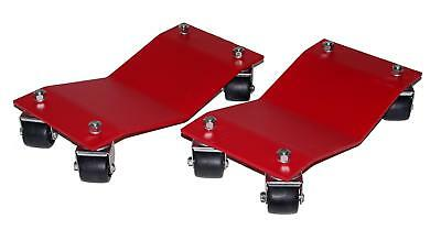 Auto Dolly Wheel Dollies Car Steel Red 1500 lbs per Dolly Pair M998100