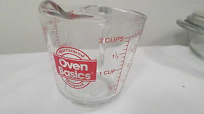 Vintage Anchor Hocking  2 Cup Oz & Metric Measuring Cup