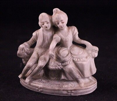 Vintage Made In Occupied Japan Courting Couple Bisque Figurine