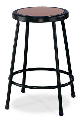 """National Public Seating Stool with Round Hardboard Seat 24"""" H"""