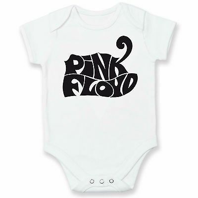 PINK FLOYD Logo Rock Music Baby Grow / Vest/ Bodysuit DAD SHOWER GIFTS NEW