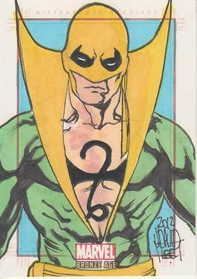 Marvel Bronze Age -  Color Sketch Card by Lee - Iron Fist