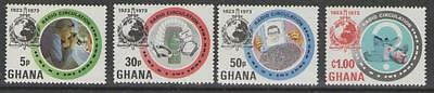 Ghana Sg682/5 1973 Anniv Of Interpol Mnh