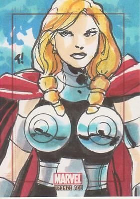 Marvel Bronze Age -  Color Sketch Card by Rodriguez - Valkylrie