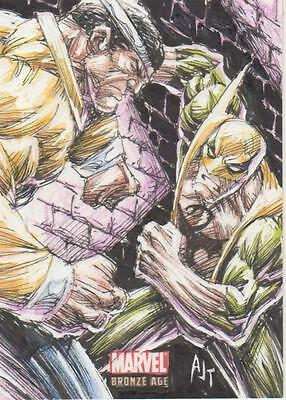 Marvel Bronze Age -  Color Sketch Card by AJ Tan -