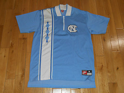 Vintage 90s Nike NORTH CAROLINA TAR HEELS Authentic NCAA Team Warm Up JERSEY Med