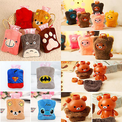 Hot Water Bag Mini Cute Cartoon Patterns Removeable Plush Cover Bottle Hand Warm