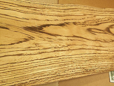 Zebrano Wood Veneer Sheets 8.25 x 50 inches 1/42nd thick             IFPa4742-18