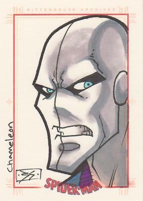 Spider-Man Archives -  Shedd  Sketch Card - Chameleon