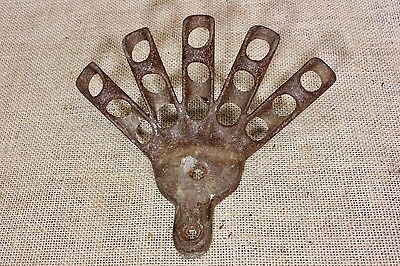 holds 5 Flags flag holder bracket wall & post mount rustic cast iron old vintage