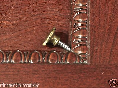 "old Drawer pull 5/8"" knob interior shutter furniture clock vintage solid brass"