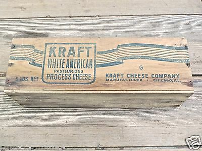 wood Kraft white American Cheese Box vintage old rustic vintage Swiss chateau
