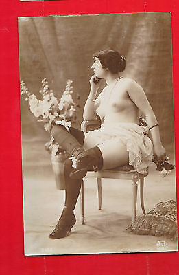 Glamour, Nudes risqué, Erotic French card.k