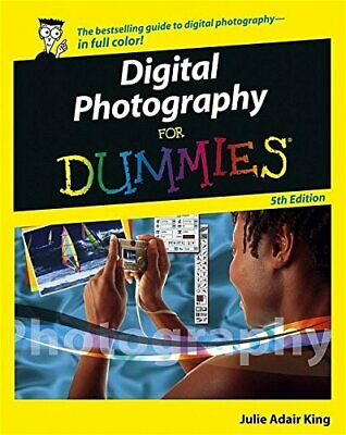 Digital Photography For Dummies by King, Julie Adair Paperback Book The Cheap