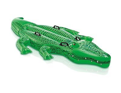 Intex Friendly Gator Giant Inflatable Swimming Pool Ride-On Raft   58562EP