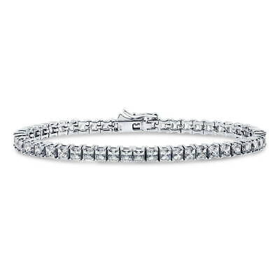 BERRICLE Sterling Silver Tennis Bracelet Made with Swarovski Zirconia Princess