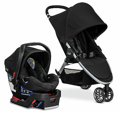 Britax 2017 B-Agile 3 Stroller & B-Safe 35 Infant Car Seat Travel System Black!!
