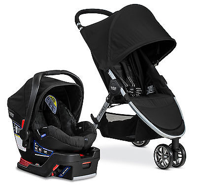 Britax B-Agile 3 Stroller & B-Safe 35 Car Seat Travel System Black NEW!