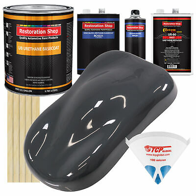 Machinery Gray Gallon URETHANE BASECOAT CLEARCOAT Car Auto Paint FAST Kit