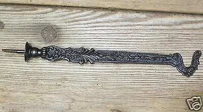 Plant Hook Bird Cage restored old vintage cast iron decorated ferns cast iron