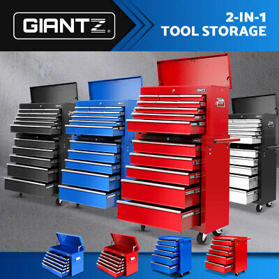 Giantz Tool Box Chest Cabinet Trolley Cart Garage Machanic Toolbox 5-15 Drawers