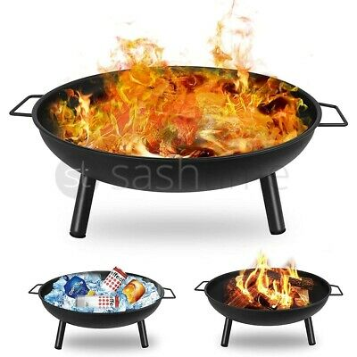 Round Fire Pit Folding Patio Garden Bowl Outdoor Firepit Patio Heater Log Bbq