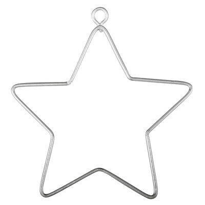 3 Small Hanging Wire Stars for Decoration | Metal Wire & Craft Hoops