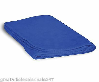 FLEECE BABY BLANKETS-ROYAL (Wholesale Lots of 48)