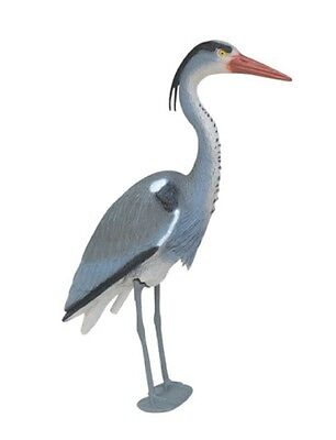 Blue Heron Decoy w/ Legs- decorative predator deterrent -protect pond fish