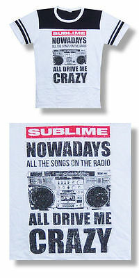 Sublime -NEW JUNIORS/BABY DOLL Nowadays T Shirt- LARGE SALE FREE SHIP TO U.S.!