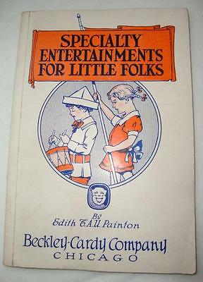 Antique 1917 Specialty Entertainment for Little Folks, 12 Plays/Sketches