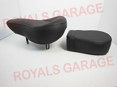 Front & Pillion / Rear Twin King Seat For Royal Bikes Enfield Classic Electra 21