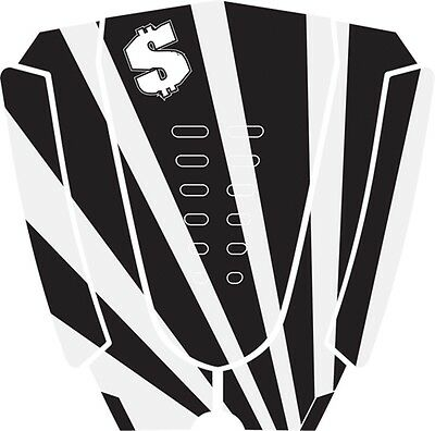 Ransom Jr Pro Surfboard Traction Pad White Black