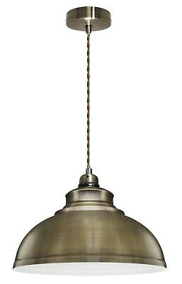 Vintage Antique Brass Hanging Ceiling Pendant Dining Room Light with Free Bulb